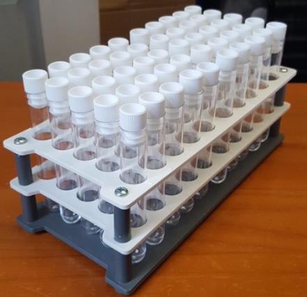 10 ml PS Test Tubes  with Tops and Tray (Set of 50)
